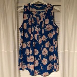 Tops - Floral Maternity Blouse - Sleeveless